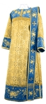 Embroidered Deacon vestments - Chrysanthemum (blue-gold)