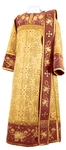 Embroidered Deacon vestments - Chrysanthemum (claret-gold)
