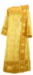 Embroidered Deacon vestments - Chrysanthemum (yellow-gold)