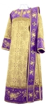 Embroidered Deacon vestments - Chrysanthemum (violet-gold)