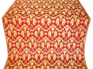 Chalice metallic brocade (red/gold)