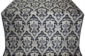 Bryansk metallic brocade (black/silver)