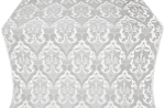 Bryansk metallic brocade (white/silver)