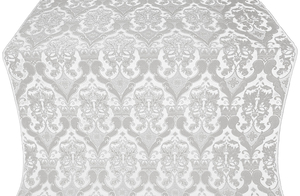 Bryansk metallic brocade (white/silver)