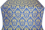 Bryansk silk (rayon brocade) (blue/gold)