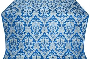Bryansk silk (rayon brocade) (blue/silver)