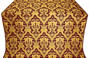 Bryansk silk (rayon brocade) (claret/gold)