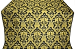 Bryansk silk (rayon brocade) (black/gold)