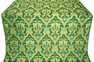 Bryansk silk (rayon brocade) (green/gold)