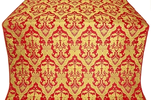 Bryansk silk (rayon brocade) (red/gold)