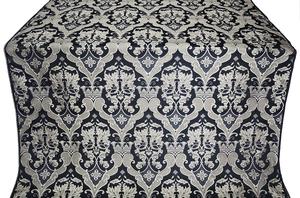 Bryansk silk (rayon brocade) (black/silver)