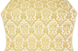 Bryansk silk (rayon brocade) (white/gold)