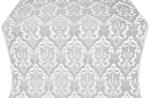 Bryansk silk (rayon brocade) (white/silver)