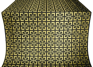 Cappadocia metallic brocade (black/gold)