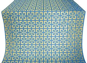 Cappadocia silk (rayon brocade) (blue/gold)