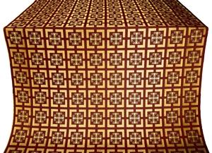 Cappadocia silk (rayon brocade) (claret/gold)