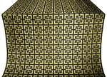 Cappadocia silk (rayon brocade) (black/gold)