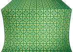 Cappadocia silk (rayon brocade) (green/gold)