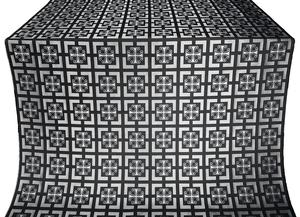Cappadocia silk (rayon brocade) (black/silver)
