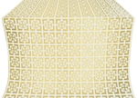 Cappadocia silk (rayon brocade) (white/gold)