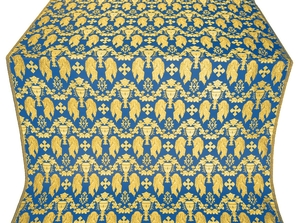Chalice metallic brocade (blue/gold)