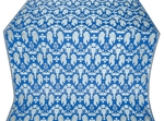 Chalice metallic brocade (blue/silver)