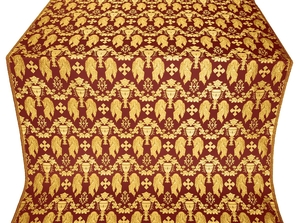 Chalice metallic brocade (claret/gold)