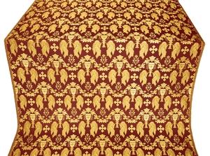 Chalice metallic brocade (claret/gold)