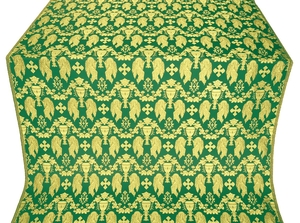 Chalice metallic brocade (green/gold)