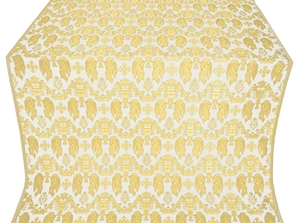 Chalice metallic brocade (white/gold)