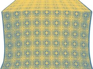 Shouya silk (rayon brocade) (blue/gold)