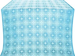 Shouya silk (rayon brocade) (blue/silver)