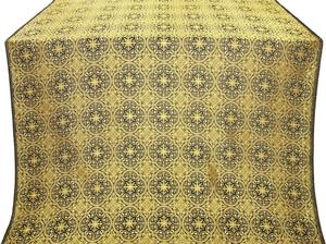 Shouya silk (rayon brocade) (black/gold)