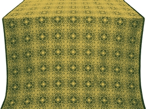 Shouya silk (rayon brocade) (green/gold)