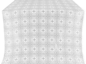Shouya silk (rayon brocade) (white/silver)