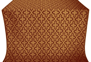 Solovki silk (rayon brocade) (claret/gold)