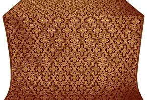 Solovki metallic brocade (claret/gold)