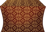 Rostov silk (rayon brocade) (claret/gold)