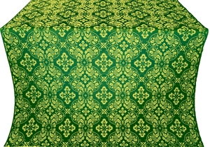 Rostov silk (rayon brocade) (green/gold)