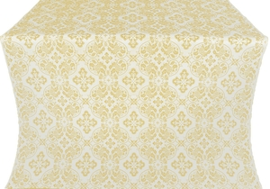 Rostov silk (rayon brocade) (white/gold)