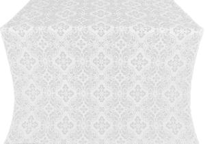 Rostov silk (rayon brocade) (white/silver)