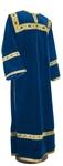 Clergy stikharion - German velvet (blue-gold)