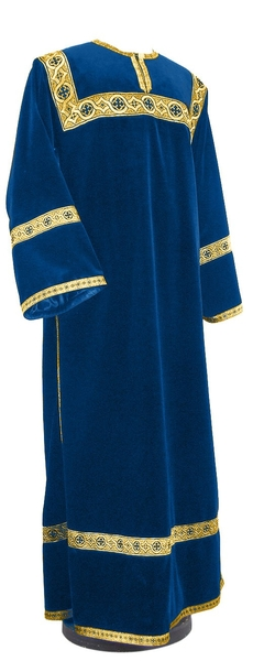 Clergy stikharion - German velvet (blue-gold)