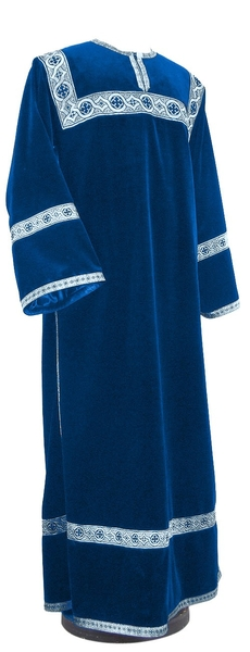 Clergy stikharion - German velvet (blue-silver)