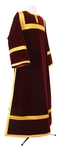 Clergy stikharion - German velvet (claret-gold)