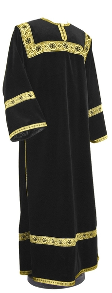 Clergy stikharion - German velvet (black-gold)