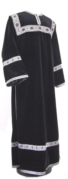 Clergy stikharion - German velvet (black-silver)