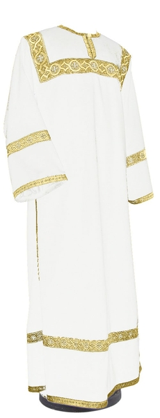 Clergy stikharion - German velvet (white-gold)