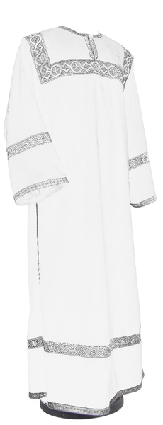 Clergy stikharion - German velvet (white-silver)