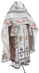 Embroidered Russian Priest vestments - Eden Birds (white-silver)
